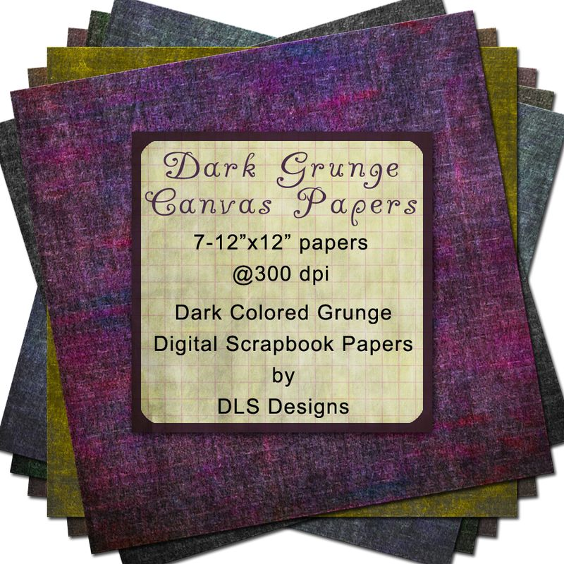 Dark Grunge Canvas Papers Preview